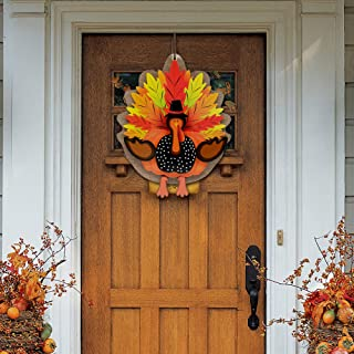 Thanksgiving Decorations 3D Turkey Decor Door Hanger