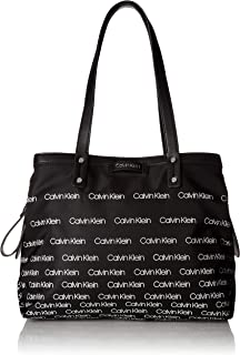 Calvin Klein womens Calvin Klein Lane Nylon Triple Compartment Tote