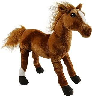 Houwsbaby Wildlife Horse Realistic Foal Stuffed Animal Lifelike Pony Plush Toy Great Gift for Kids Friends Halloween Christmas, 12'' (Brown)
