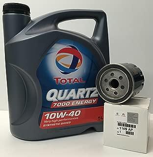 Total Pack Lubricante Motor Quartz 7000 Energy 10W-40 5 litros+ Filtro Aceite Original Citroen/Peugeot 1109AP