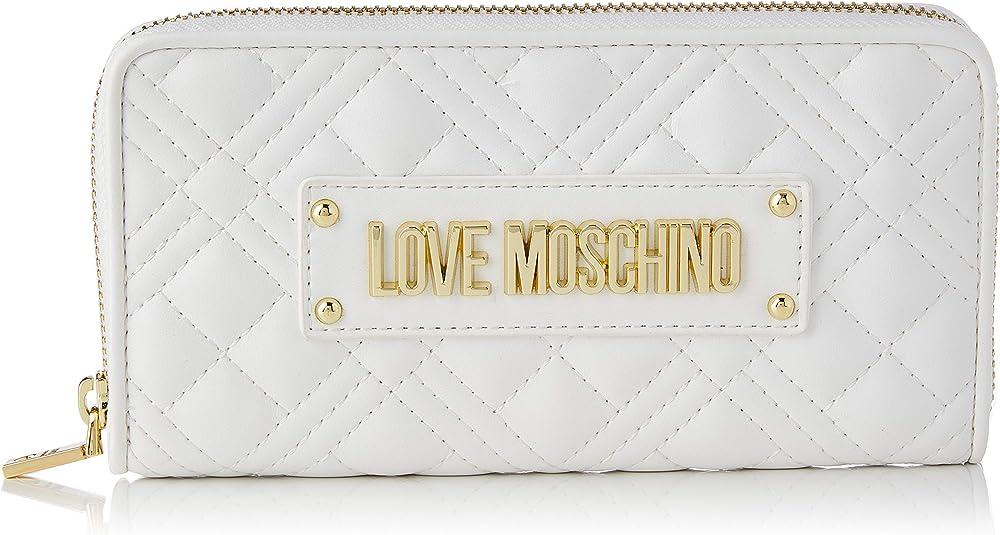 Love moschino precollezione ss21 portafoglio porta carte di credito da donna in pelle sintetica AS21MO12