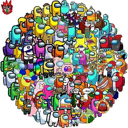 Among us Pegatinas de juego populares pegatinas para ordenador portátil, impermeables, botella de agua para equipajes de coche Bumper Bike (100 PCS).