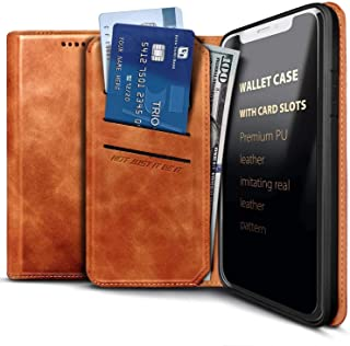 E-Began Wallet Case for Samsung Galaxy A21 (2020 Release U.S. Edition), Credit Card Holder, Kickstand Feature Premium Leat...