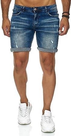Redbridge Vaqueros Cortos para Hombre Jeans Shorts Denim Used Look