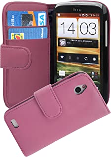 Cadorabo Book-Style Case for HTC Desire X in Antique Pink with Card Compartment/Smooth Artificial Leather/Antique Pink