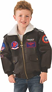 Rubie's Top Gun Child's Costume Bomber Jacket, Medium