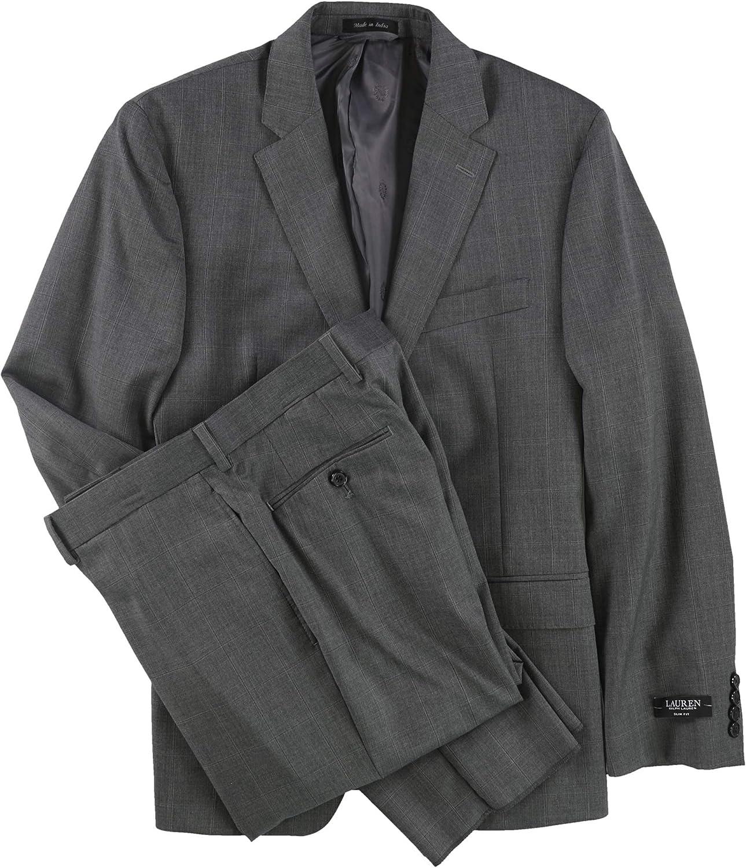 Ralph Lauren Mens Slim-Fit Two Button Suit grey 38/Unfinished