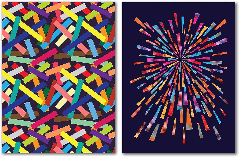 Americanflat Confetti by Joe Van Wetering 2 Piece Canvas Wall Ar