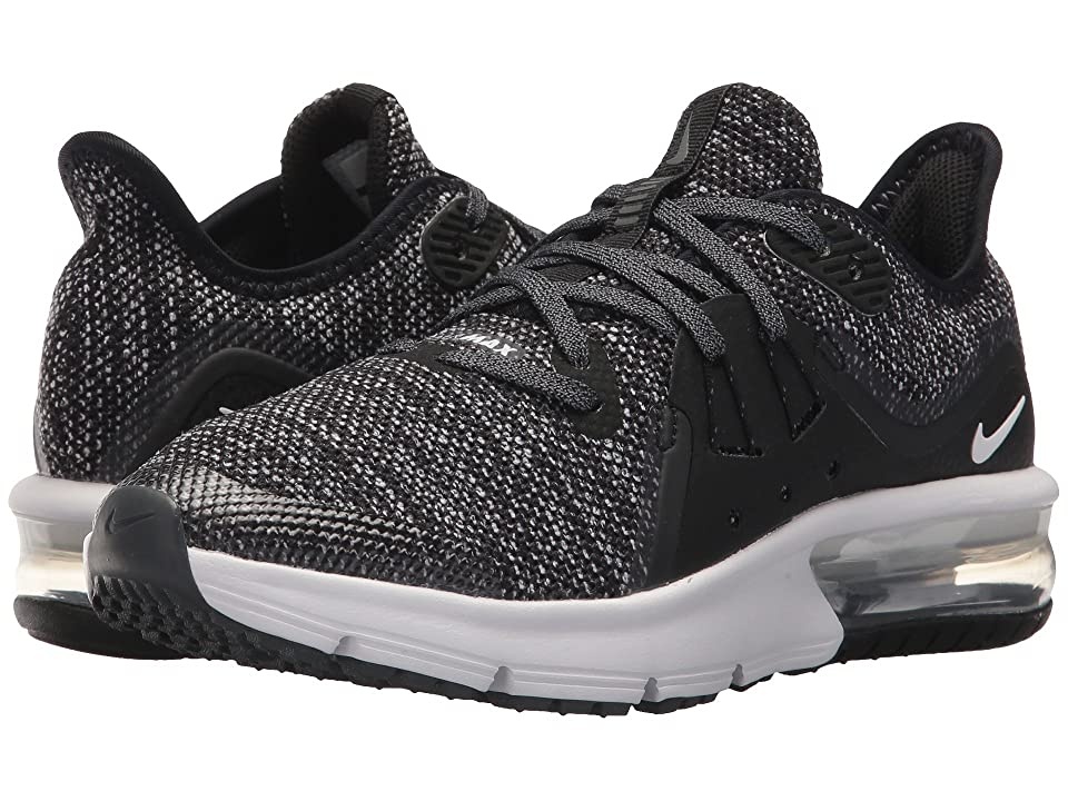 Nike Kids Air Max Sequent 3 (Big Kid) (Black/Metallic Hematite/Dark Grey/White) Boys Shoes