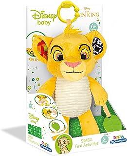 Clementoni-17296 - Rey León, peluche texturas - peluche Disney para bebés a partir de 6 meses