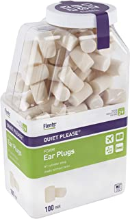 Flents Ear Plugs, 100 Pair, Ear Plugs for Sleeping, Snoring, Loud Noise, Traveling, Concerts, Construction, & Studying, NRR 29