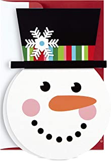 Hallmark Boxed Holiday Cards, Cheerful Snowman (16 Cards with 17 Designed Envelopes)