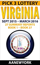 Pick 3 Lottery Virginia: 27 Summary Reports (Book 1 to Book 27)