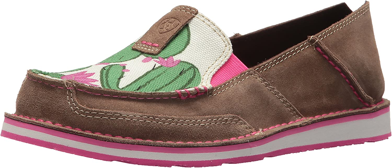 Ariat Women's Cruiser Slip-on shoes, Relaxed Bark Cactus Print, 7.5 B US