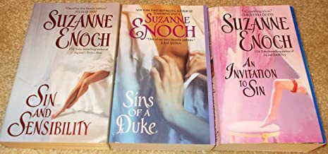 Suzanne Enoch: 3 Book Set: Softcover: Sins Of A Duke: An Invitation To Sin: Sin And Sensibility: Very Good.