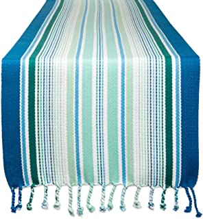 DII CAMZ11185 100% Cotton, Machine Washable, Everyday Table Runner for Dinner Parties, Events, Décor, 13x72, Tidal Stripe