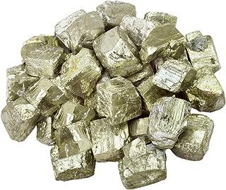 rockcloud 1 lb Natural Crystals Raw Rough Stones for Cabbing,Tumbling,Cutting,Lapidary,Polishing,Reiki Crytsal Healing,Iron Pyrite