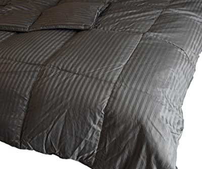 Luxlen Duck Down Comforter - 450 Thread Count Egyptian Cotton, Full/Queen, 90