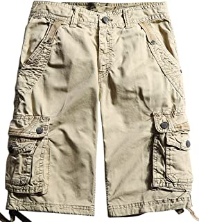chouyatou Men's All-Season Loose Ripstop Basic Cargo Shorts