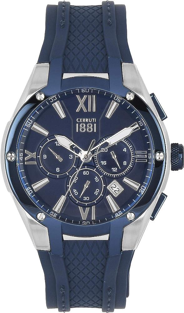 Cerruti 1881,orologio,CRONOGRAFO per uomo,in acciaio inossidabile e cinturino in silicone CRA28101