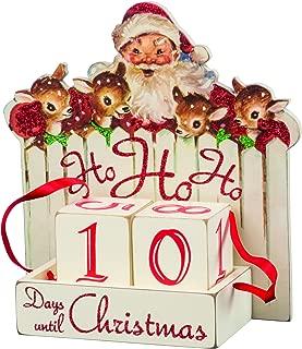 Primitives by Kathy Vintage Christmas Wood Countdown Box, Ho