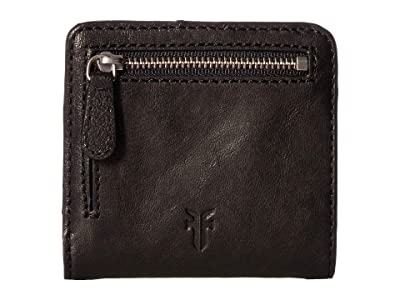 Frye Demi Small Wallet (Black Antique Soft Vintage) Wallet Handbags