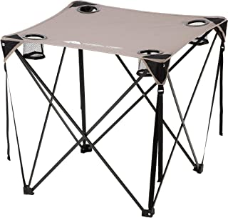 Ozark Trail Quad Table, Grey, portable, lightweight with 4 mesh cup holders