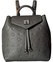 MCM - Essential Monogrammed Leather Backpack Small