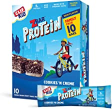 Clif Kid Z Bar- Protein Granola Bars - Cookies and Creme - (1.27 Ounce Gluten Free Bars, Lunch Box Snacks, 10 count)