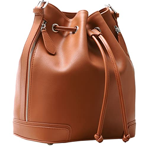 aacc0ea4ab Leather Bucket Bag: Amazon.com
