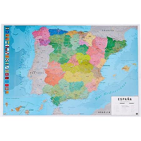 Cartina Politica Spagna Con Capoluoghi.Penisola Iberica Carta Murale Scolastica Bifacciale Fisica Politica 132x99 Cm Belletti Amazon It Cancelleria E Prodotti Per Ufficio