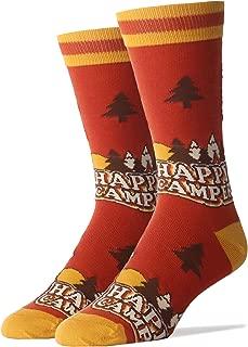Oooh Yeah Men's Crew Funny Novelty Socks Happy Camper