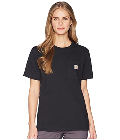 Carhartt WK87 Workwear Pocket Short Sleeve T-Shirt (Black) Women