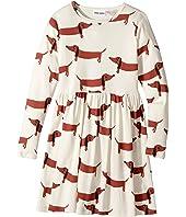 mini rodini - Dog Long Sleeve Dress (Infant/Toddler/Little Kids/Big Kids)