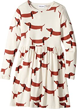 mini rodini - Dog Long Sleeve Dress (Infant/Toddler/Little Kids/Big Kids)