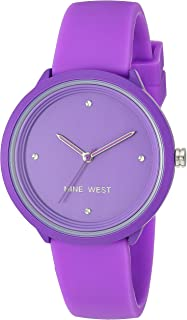 Nine West Women's Neon Purple Silicone Strap Watch, NW/2425PRPR