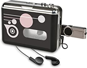 Rybozen Convertidor y Reproductor de Cinta casetes,Convertir Audio Cassette a MP3 Digital,Guardar en USB Flash Disk Directamente -No Requiere PC