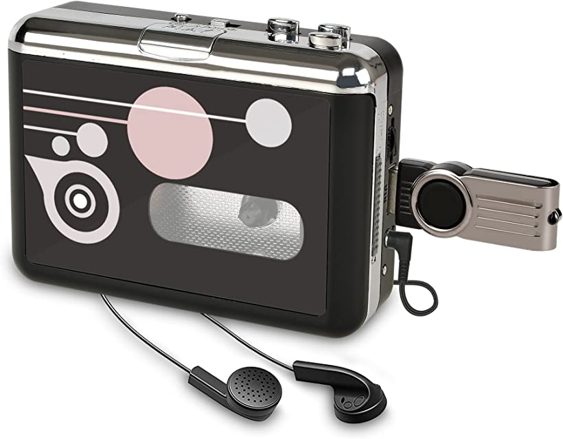 Rybozen Convertidor y Reproductor de Cinta casetesConvertir Audio Cassette a MP3 DigitalGuardar en USB Flash Disk Directamente -No Requiere PC
