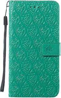 WiseSwim Leather Flip Case Fit for Samsung Galaxy S10e, Kickstand Card Holders Extra-Shockproof Green Wallet Cover for Sam...