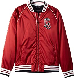 Satin Baseball Jacket (Big Kids)