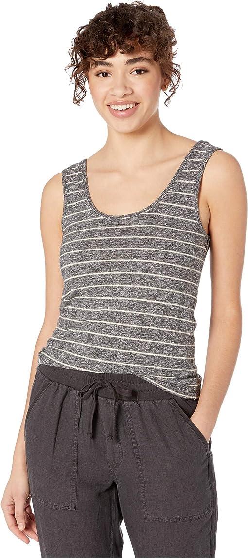 Heather Charcoal/Oatmeal Stripe