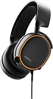 SteelSeries Arctis 5 (2019 Edition) RGB Illuminated Gaming Headset with DTS Headphone:X v2.0 Surround for PC and PlayStati...