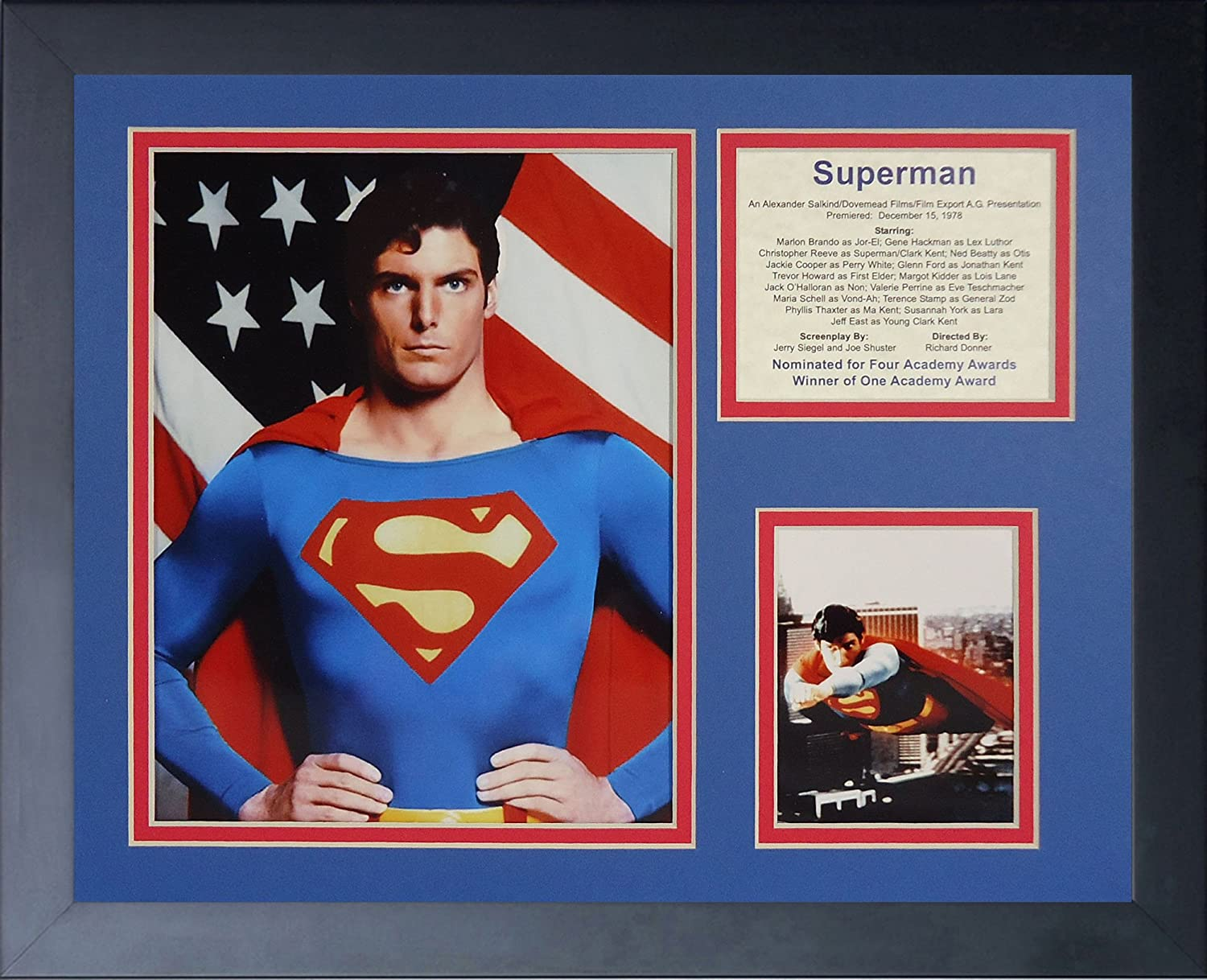 Legends Never Die Superman Framed Photo Collage, 11 by 14Inch