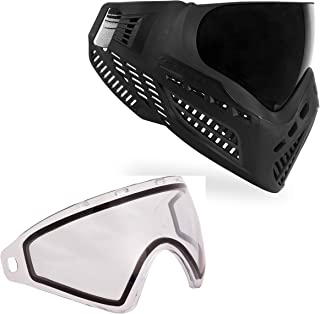 Virtue VIO Ascend Paintball Goggle and Virtue VIO Replacement Lens Bundle - Black with Thermal Clear Lens