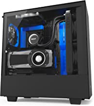 NZXT H500i - Compact ATX Mid-Tower PC Gaming Case - RGB Lighting and Fan Control - CAM-Powered Smart Device - Tempered Glass Panel - Enhanced Cable Management System – Water-Cooling Ready - Black/Blue