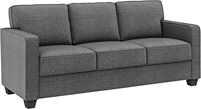 VASAGLE Sofa, Couch for Living Room Modern Upholstered, Cotton-Linen Surface, 78.7 x 32.3 x 35.4 Inches, Gray