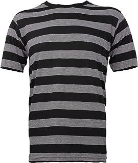 Largemouth Striped Short Sleeve Shirt Black Stone Grey Adult