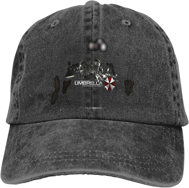 Zhengyu Umbrella Resident Cowboy Hat Adjustable Baseball Cap Youth Retro Sports Cowboy Hat Unisex Black