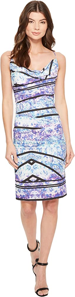 Nicole Miller - Stamped Paisleys Carly Tuck Dress