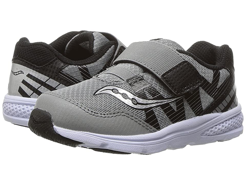 Saucony Kids Ride Pro (Toddler/Little Kid) (Grey/Black) Boys Shoes
